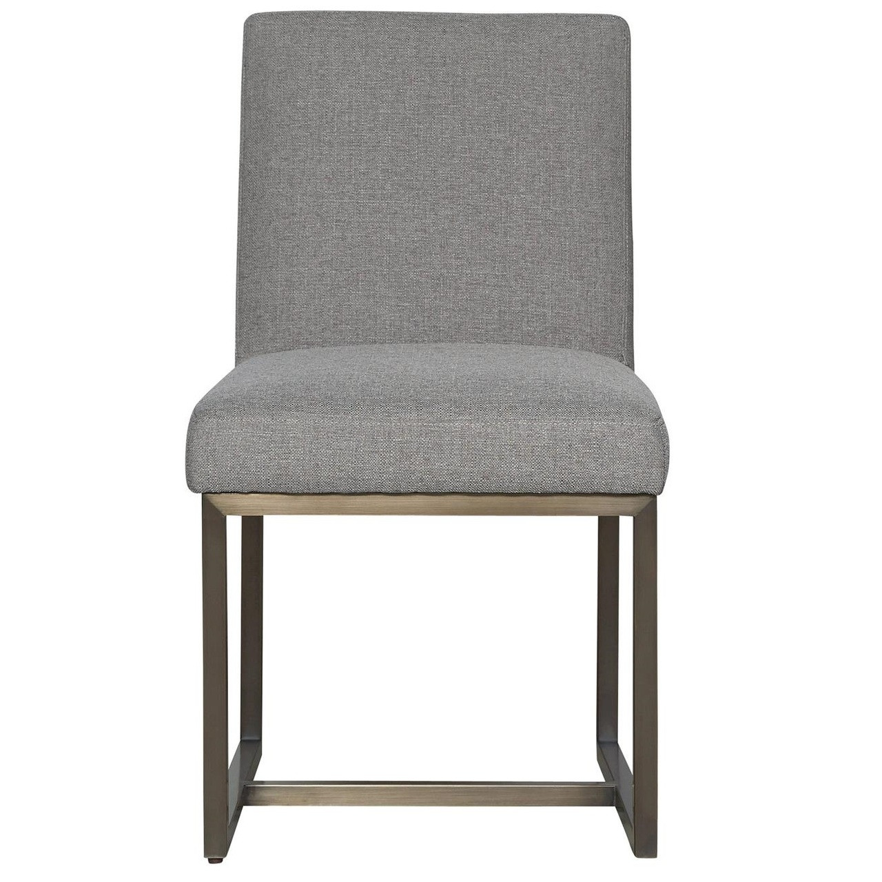 Delightful Cooper Modern Bronze Metal Leg Upholstered Side Chair