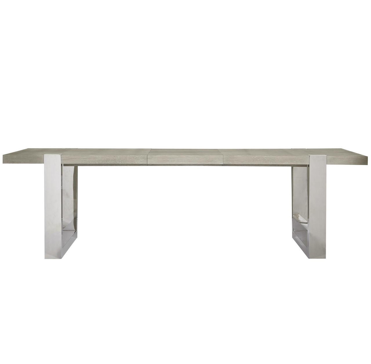 Desmond Modern Oak Wood + Stainless Steel Extension Dining Table