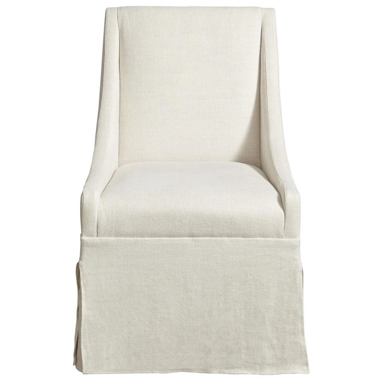 townsend belgian linen upholstered skirted dining chair zin home
