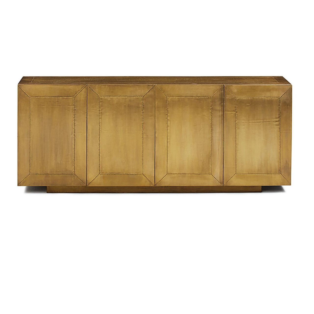 Sideboard Industrial freda brass clad wrapped industrial buffet sideboard zin home