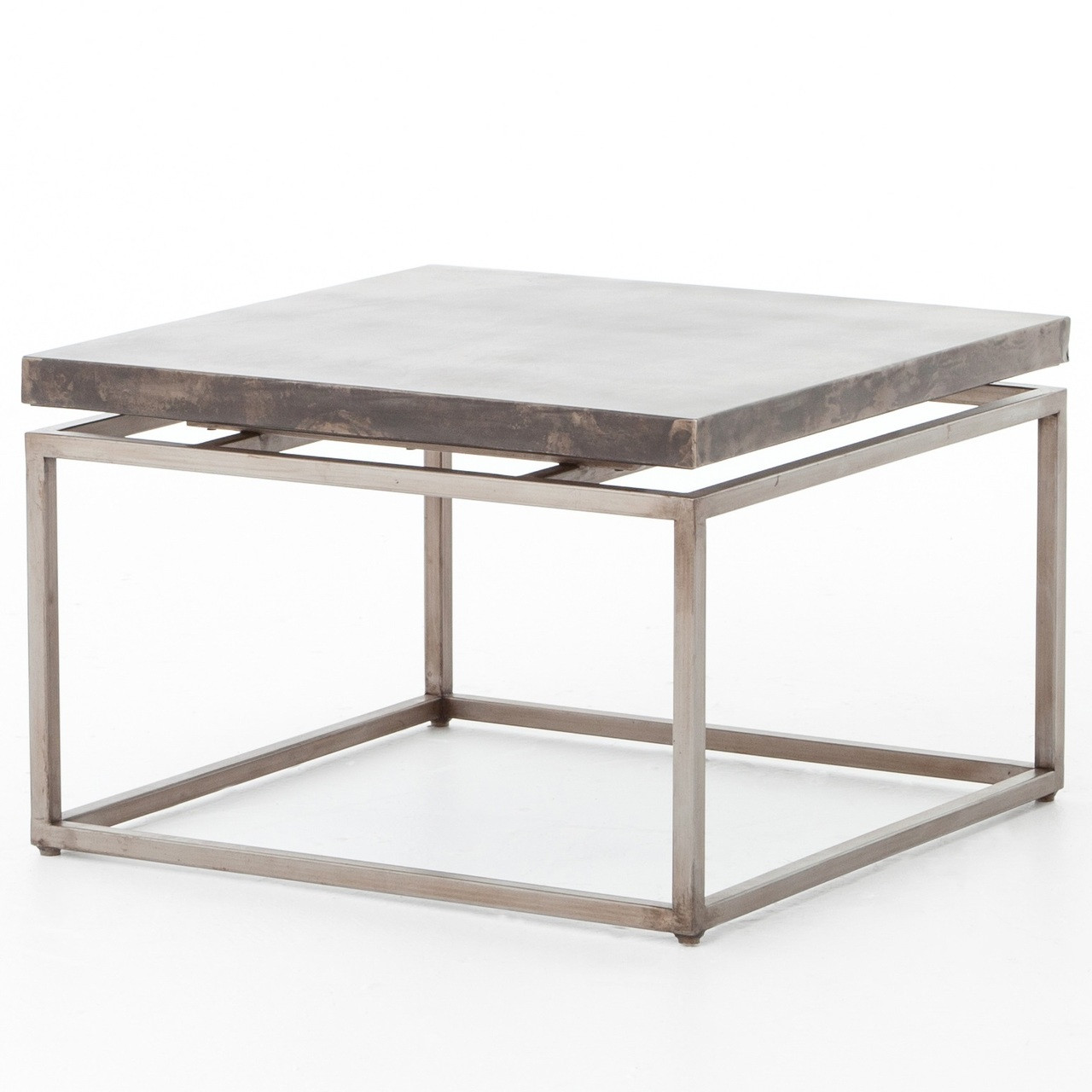 Roman Box Frame Industrial Iron Square Coffee Table | Zin Home