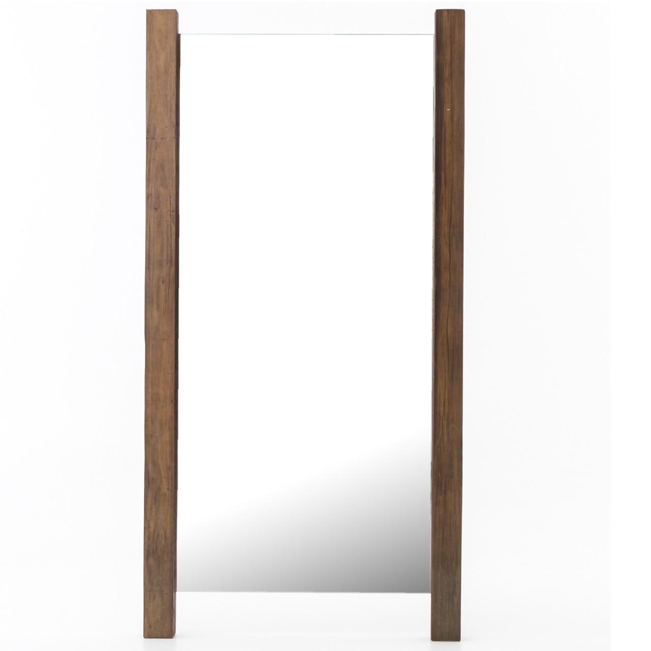 Beldon Reclaimed Wood Rustic Floor Mirror 84\