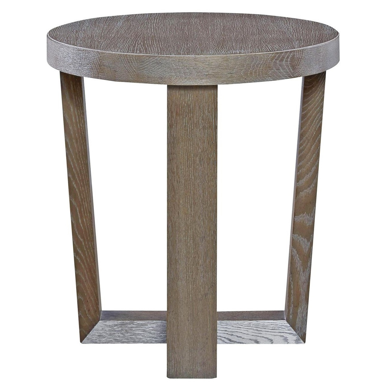 Wilshire Modern Oak Wood Round End Table