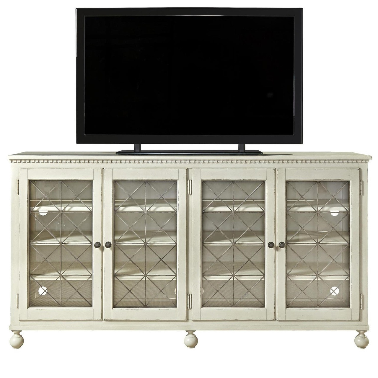 Sojourn french country white entertainment center console for French country white