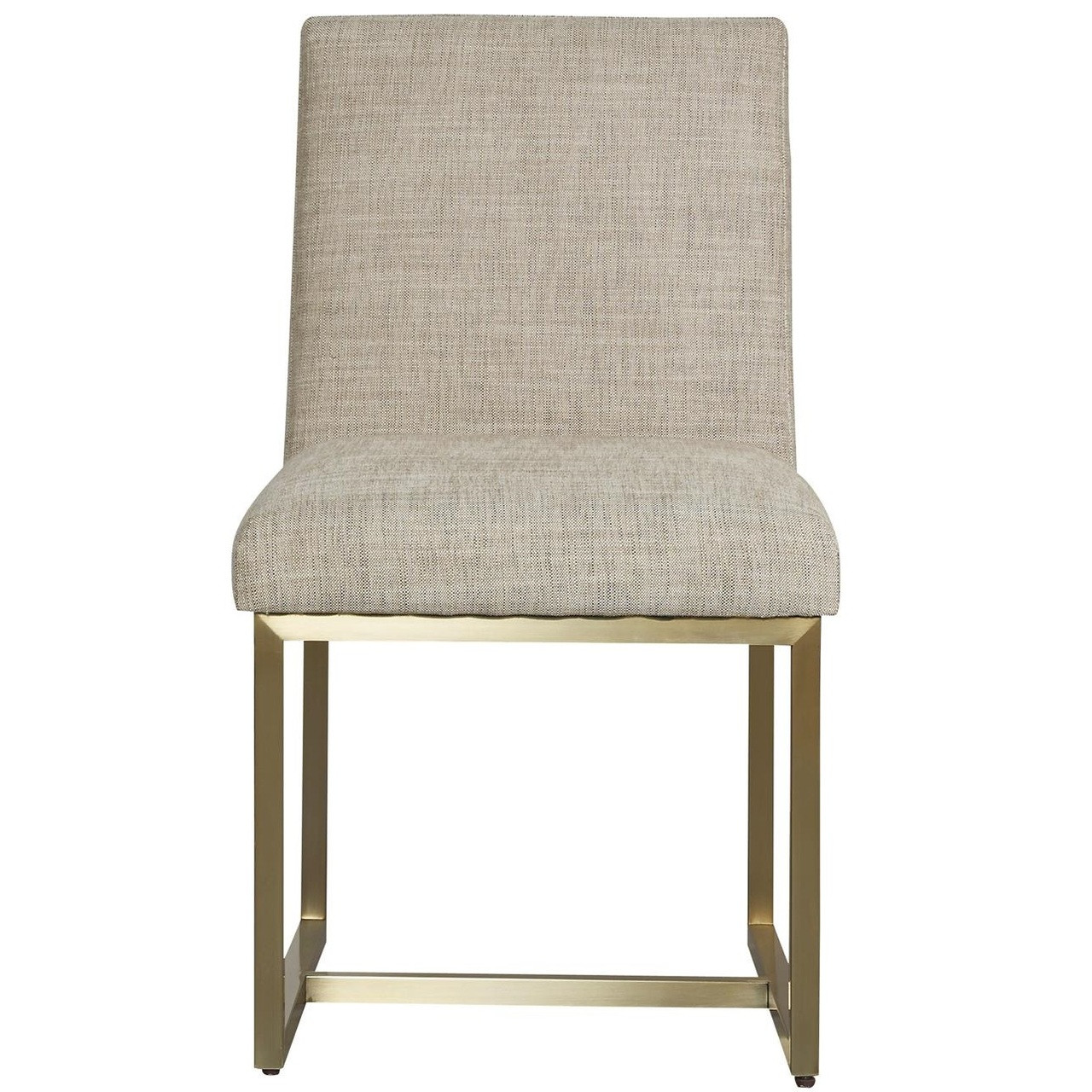 Gibson Modern Fabric Brushed Gold Dining Chair