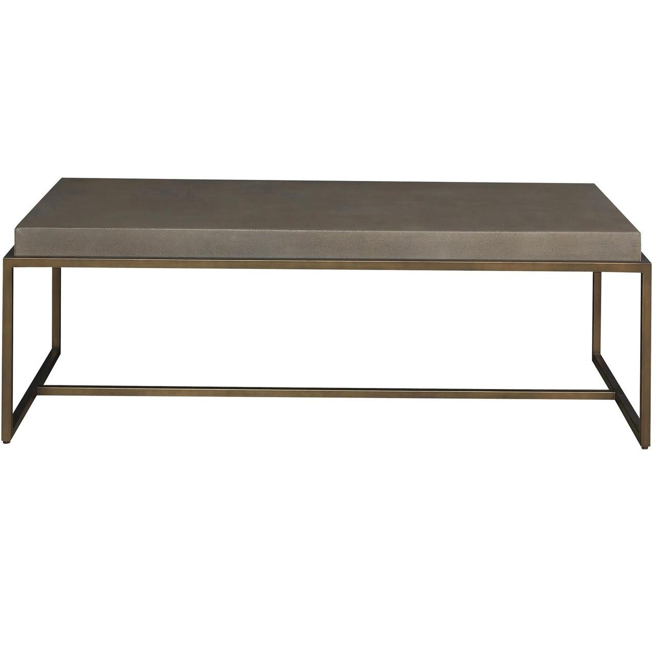 Pickford Coffee Table Bronze: Portobello Modern Shagreen Coffee Table