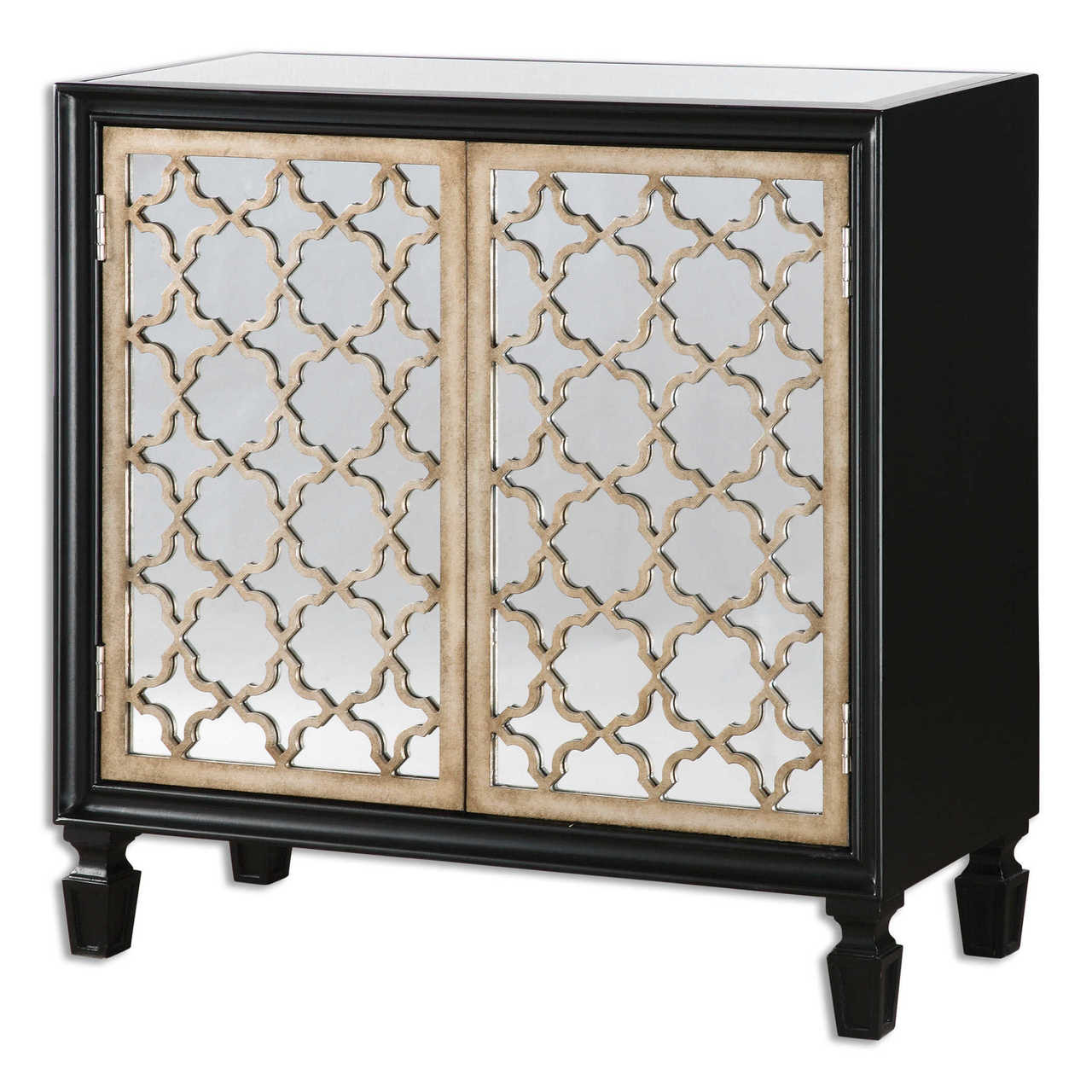 Franzea Mirrored Small Console Cabinet  sc 1 st  Zin Home & Franzea Mirrored Small Console Cabinet | Zin Home