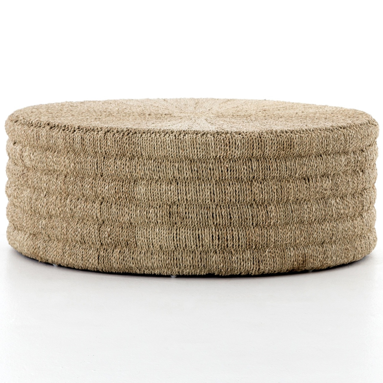 Pascal Woven Round Coffee Table Ottoman Zin Home