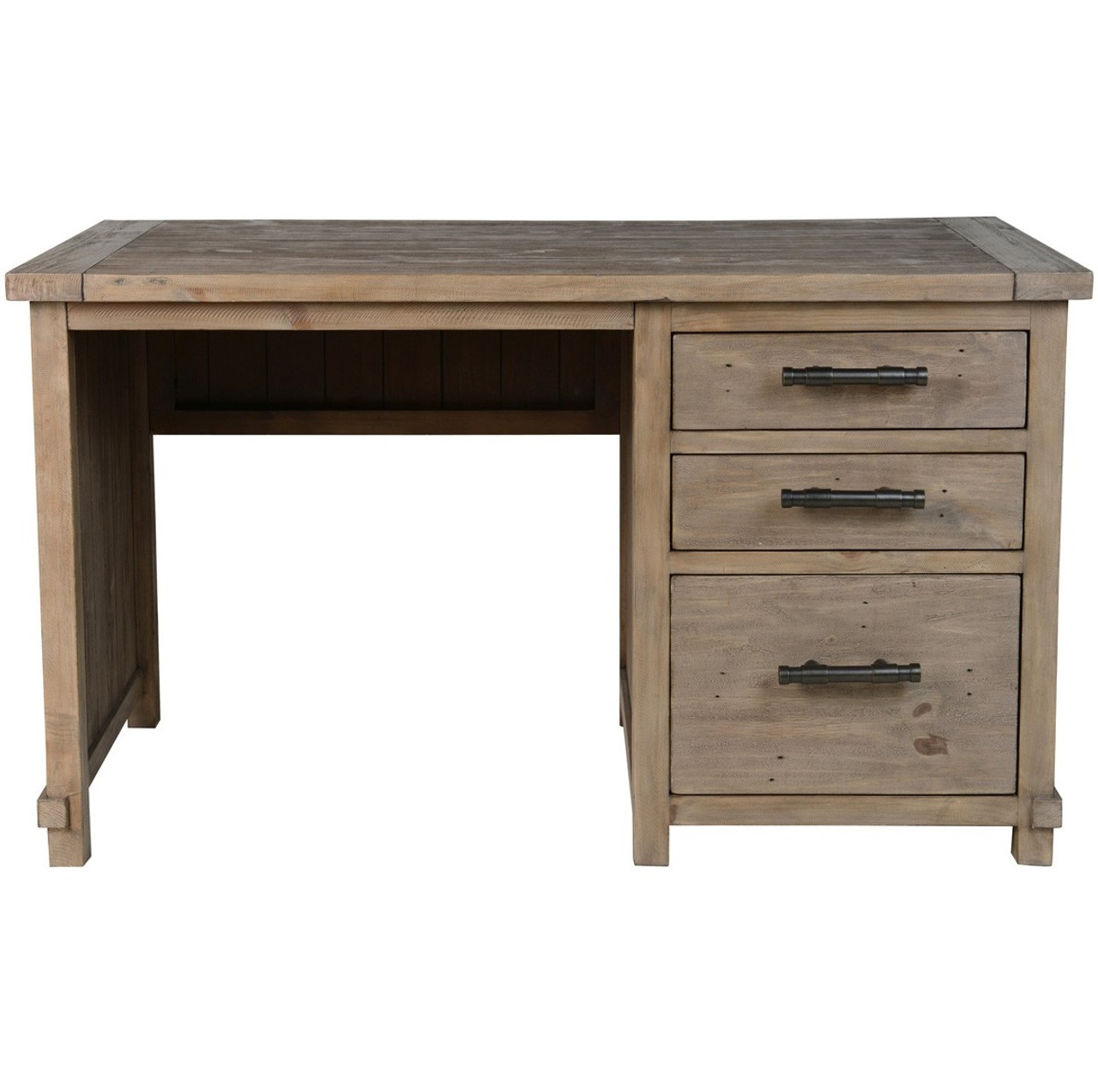 Farmhouse Reclaimed Wood Desk With File Storage