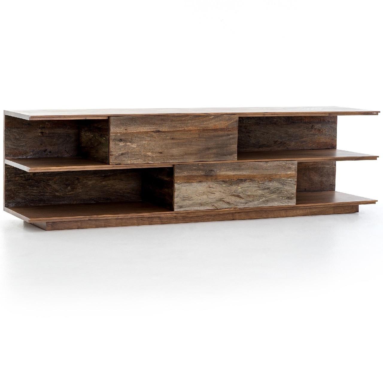 peroba wood furniture. Bina,Craig Reclaimed Peroba Wood Large Media Console Furniture T
