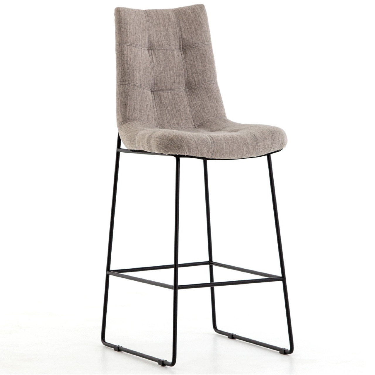 Camile Black Iron Leg Bar Stool Savile Flannel Zin Home