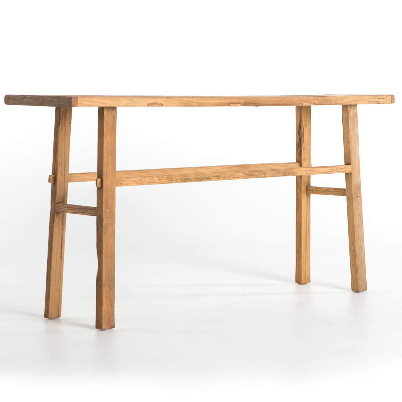 Superbe Covington Farmhouse Reclaimed Elm Console Table