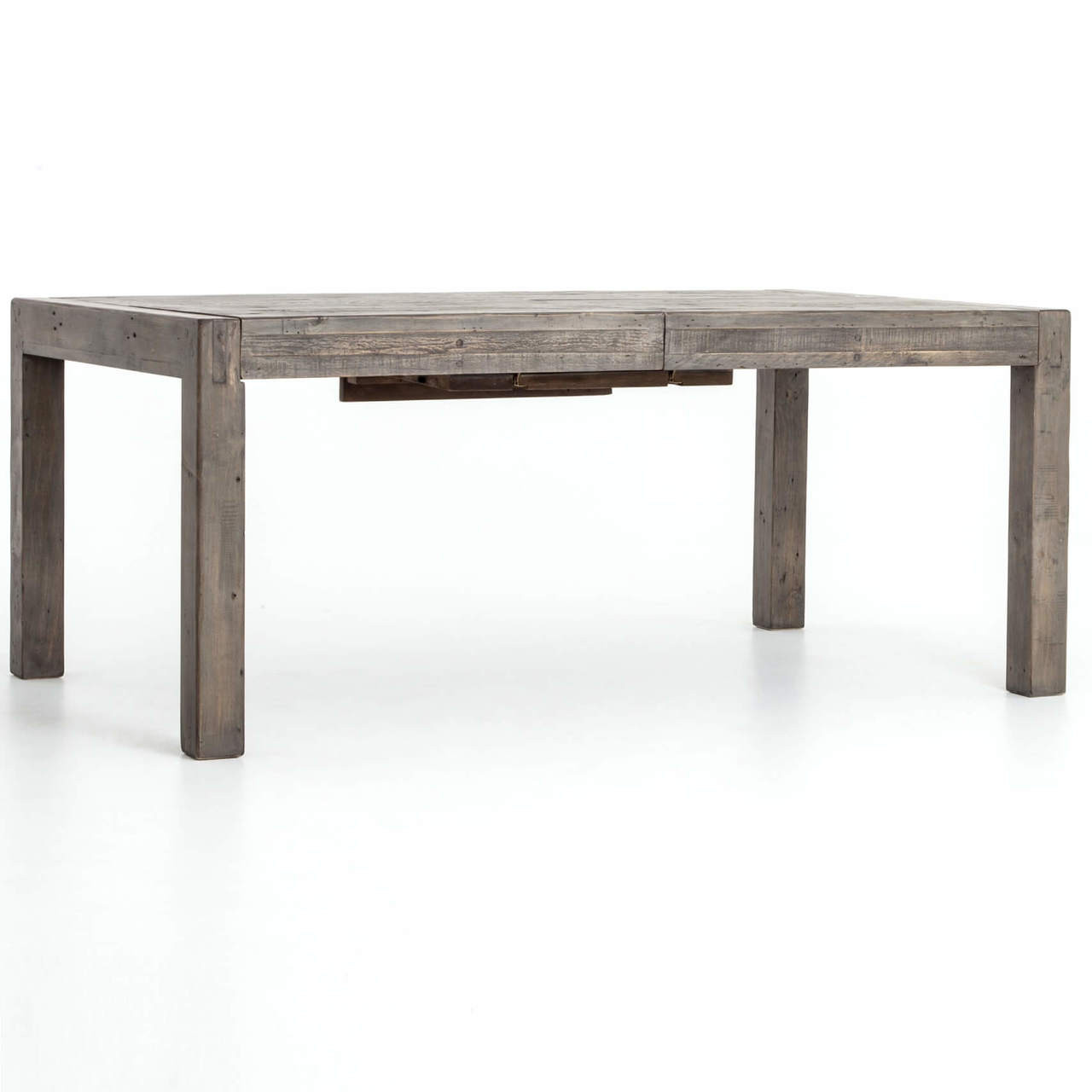 Beau Parsons Grey Reclaimed Wood Extension Dining Table 72u0027u0027