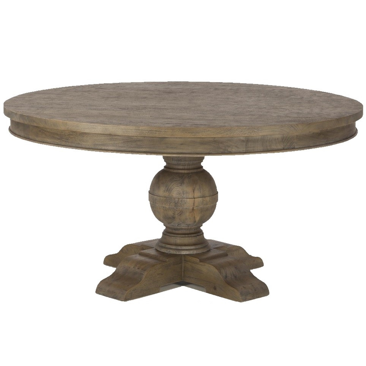 French Urn Solid Wood Pedestal Round Dining Table Zin Home - 48 round solid wood dining table