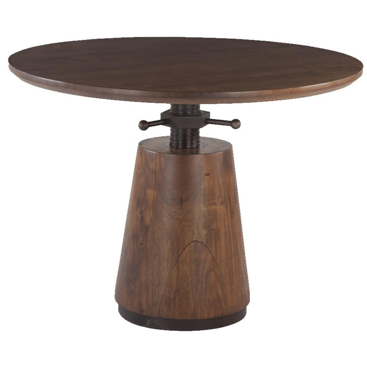 Industrial solid wood adjustable pub table 40 zin home industrial solid wood adjustable pub table 40 watchthetrailerfo