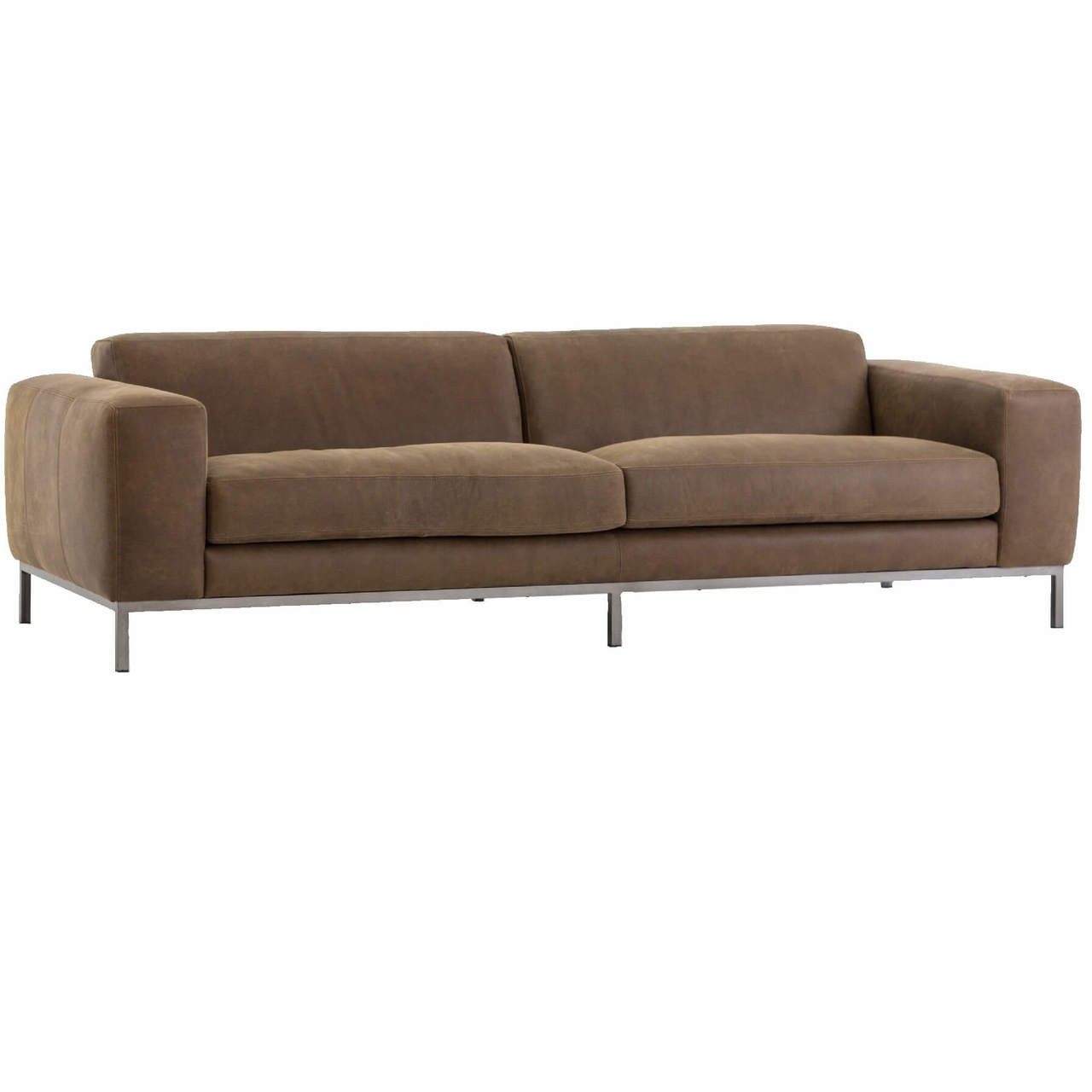 """Best Leather Sofas In Us: Benedict Modern Top Grain Leather Sofa 96"""""""