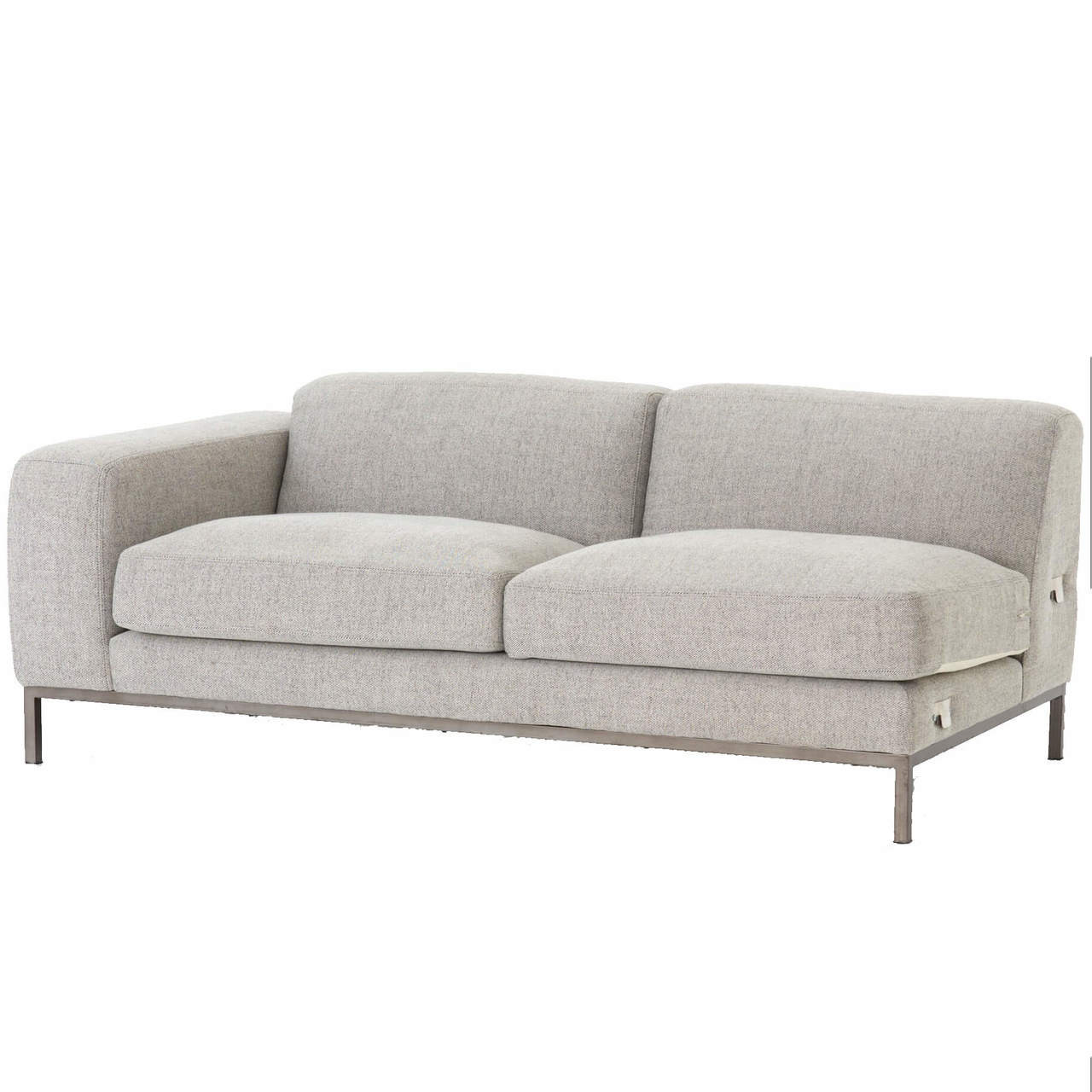 Benedict modern grey fabric laf sectional sofa
