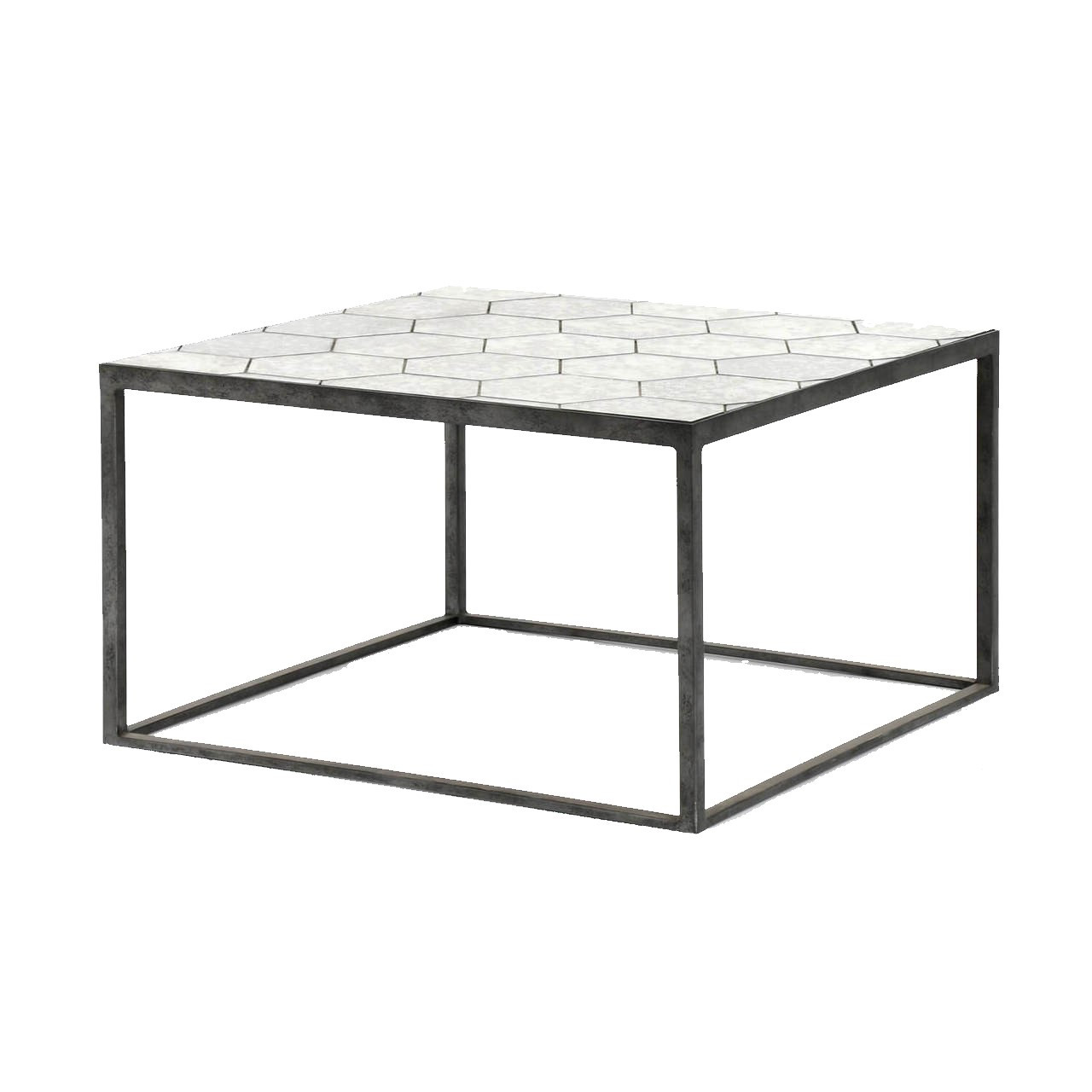 riley antiqued mirror square bunching coffee table Bunching Coffee Tables