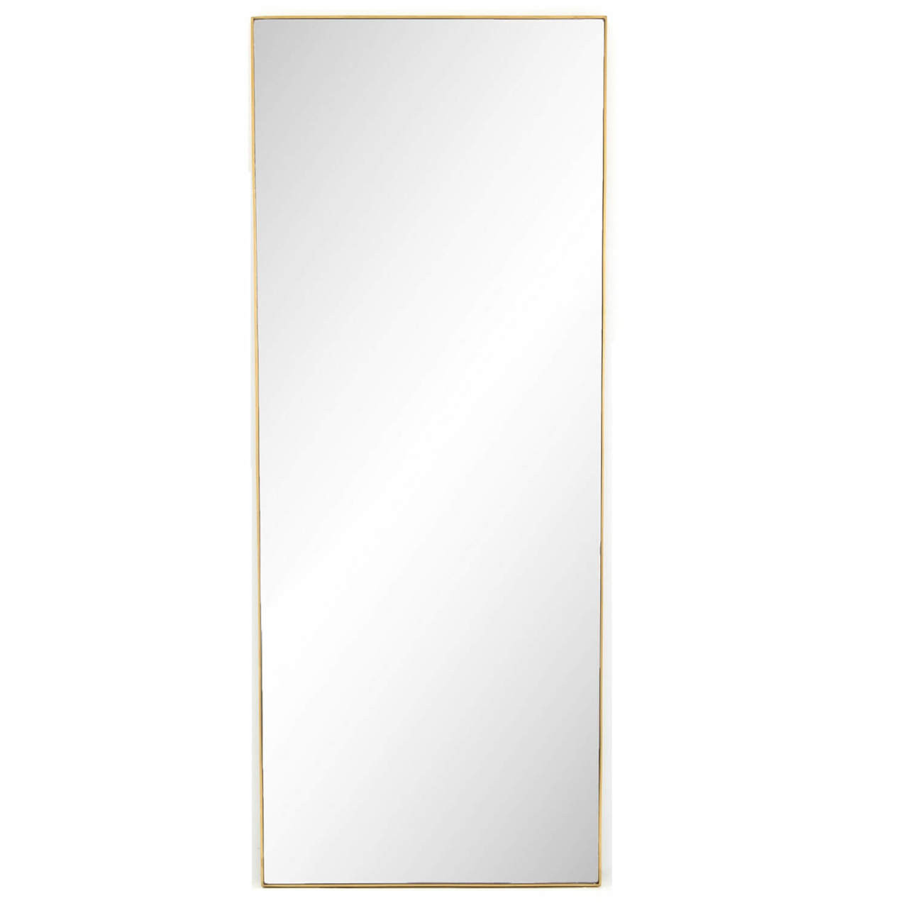 Bellevue Polished Brass Floor Mirror 80\