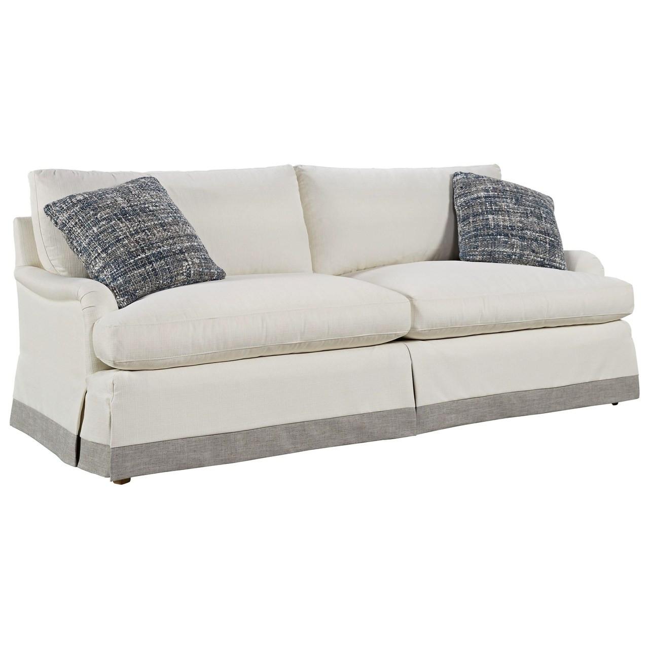 "English Roll Arm Sofa: Carmichael English Rolled Arm Skirted Sofa 89"""