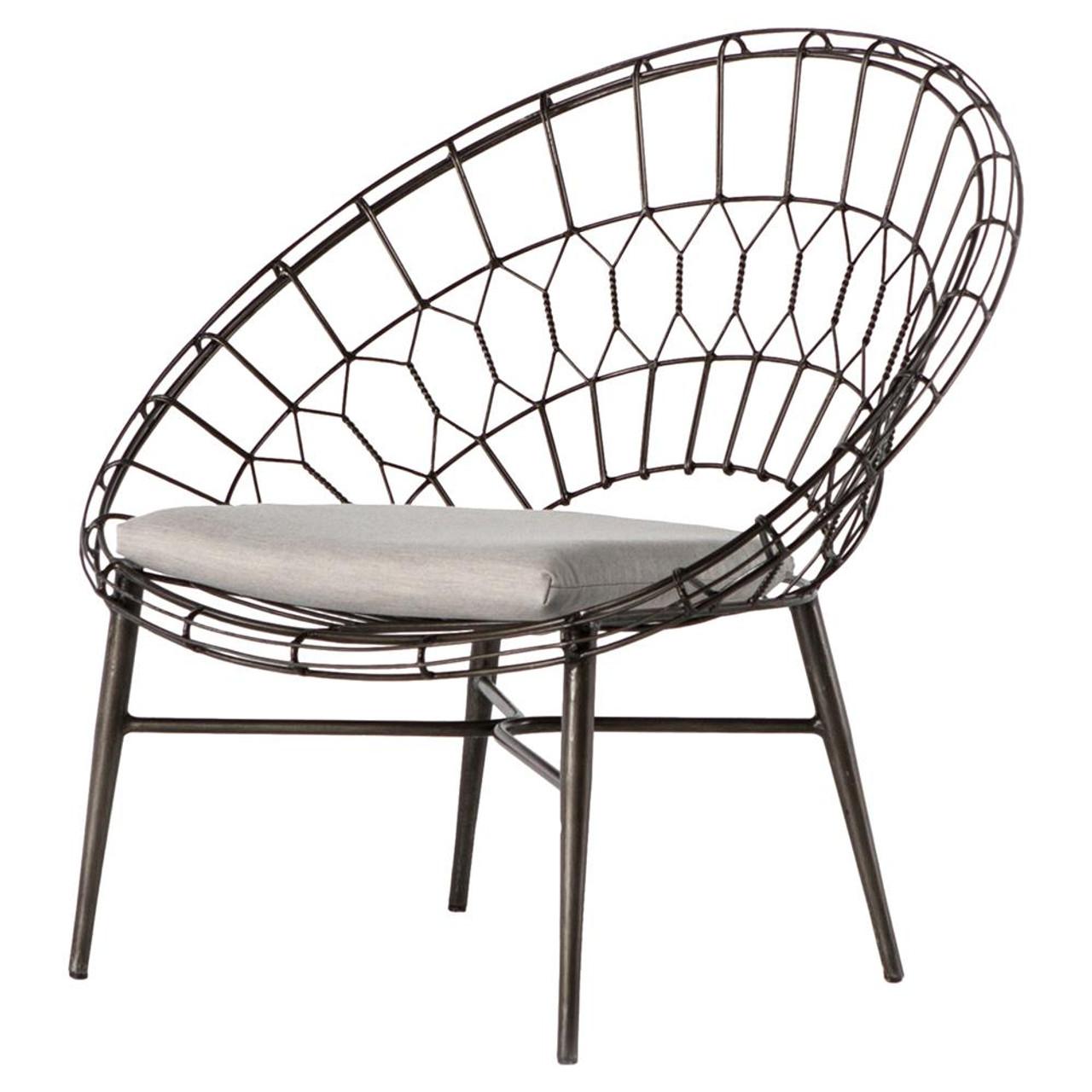 Marquis Metal Wicker Sunburst Outdoor Lounge Chair - Marquis Metal Wicker Sunburst Outdoor Lounge Chair Zin Home