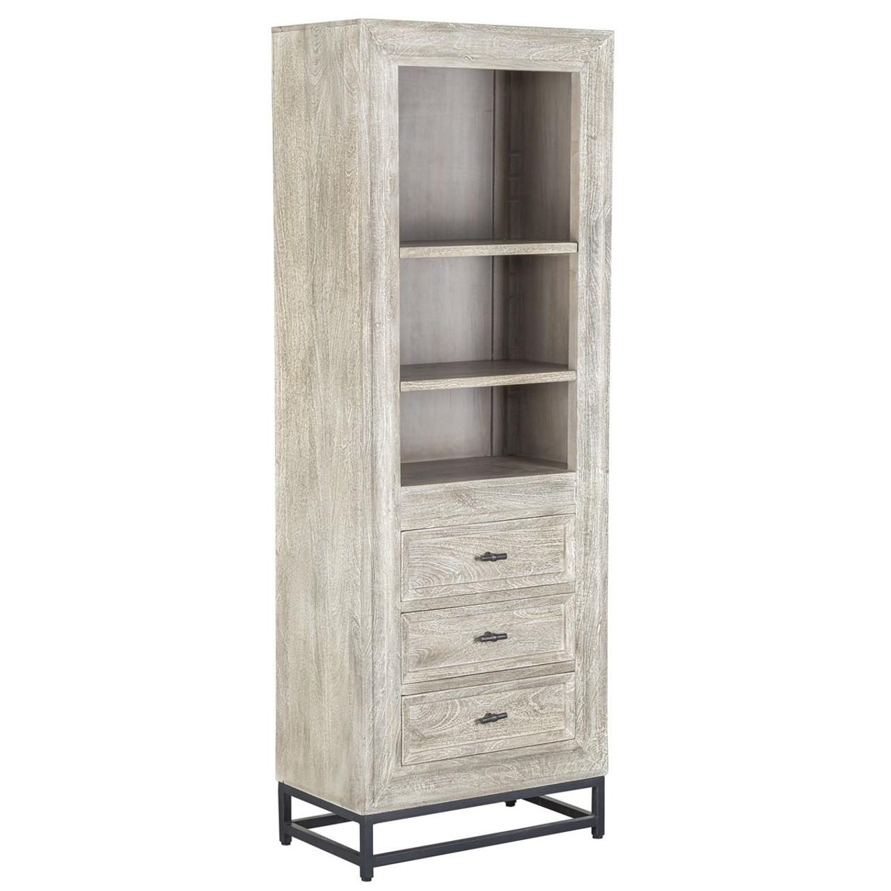 americana native whitewash s wood reclaimed bathroom furniture bath hutch trails in bookcase
