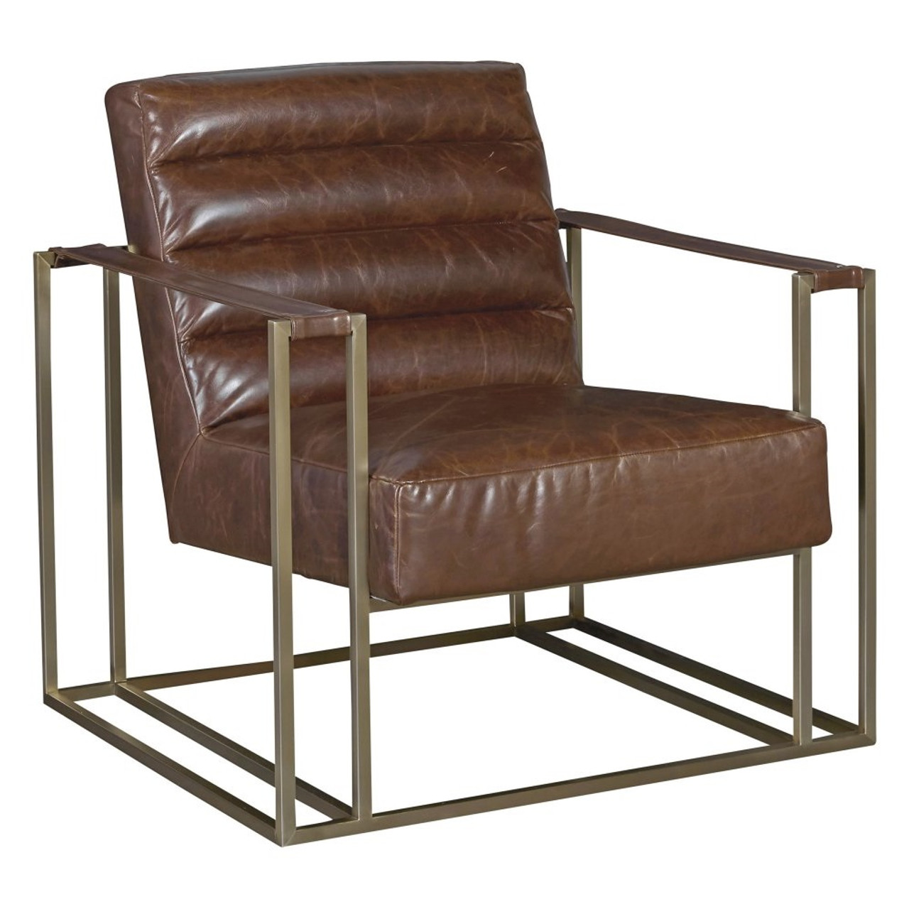 Superb Jensen Modern Brown Leather Club Chair