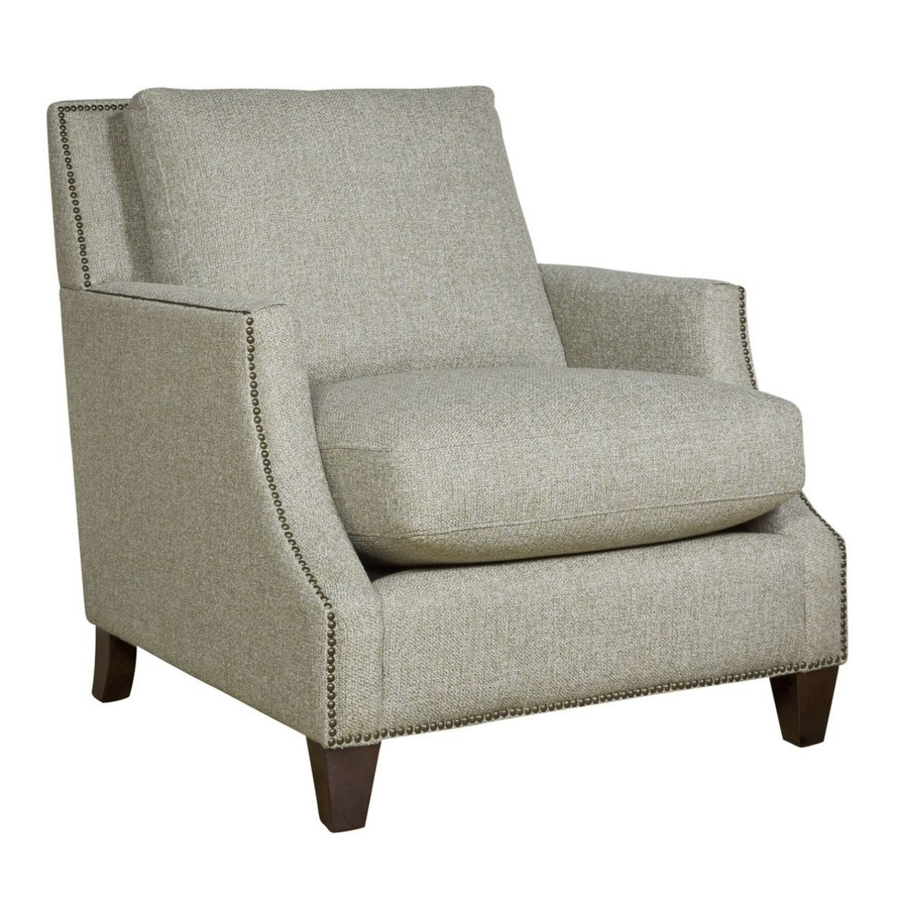 Attirant Brady Scoop Arm Accent Chair With Nailheads