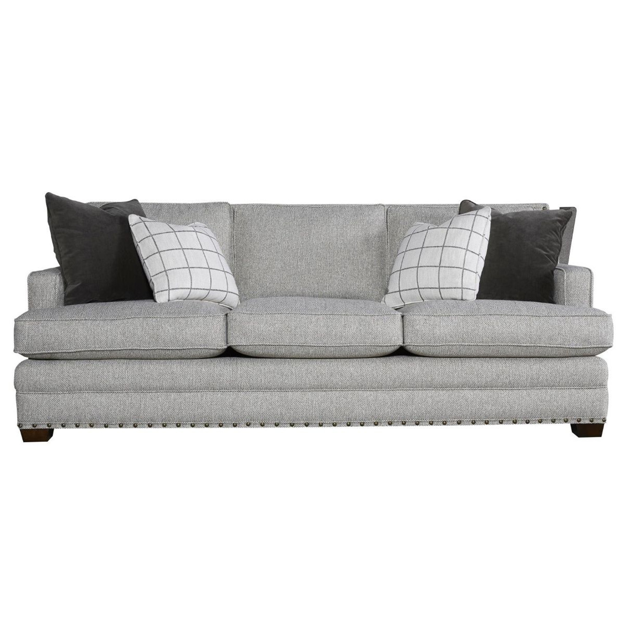 Riley Upholstered 3 Seat Sofa With Nailheads