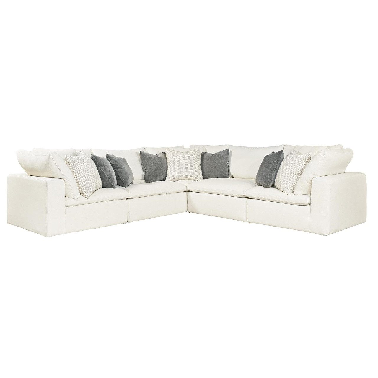 Palmer Coastal Beige 5 Pc Corner Sectional Sofa