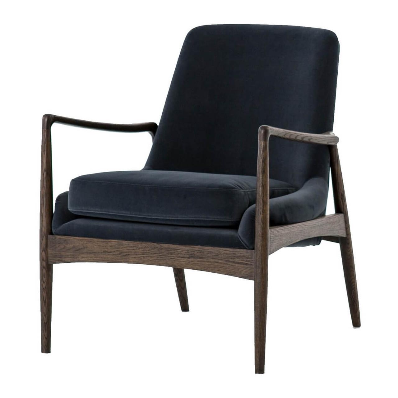 Braden Mid Century Modern Velvet Club Chair