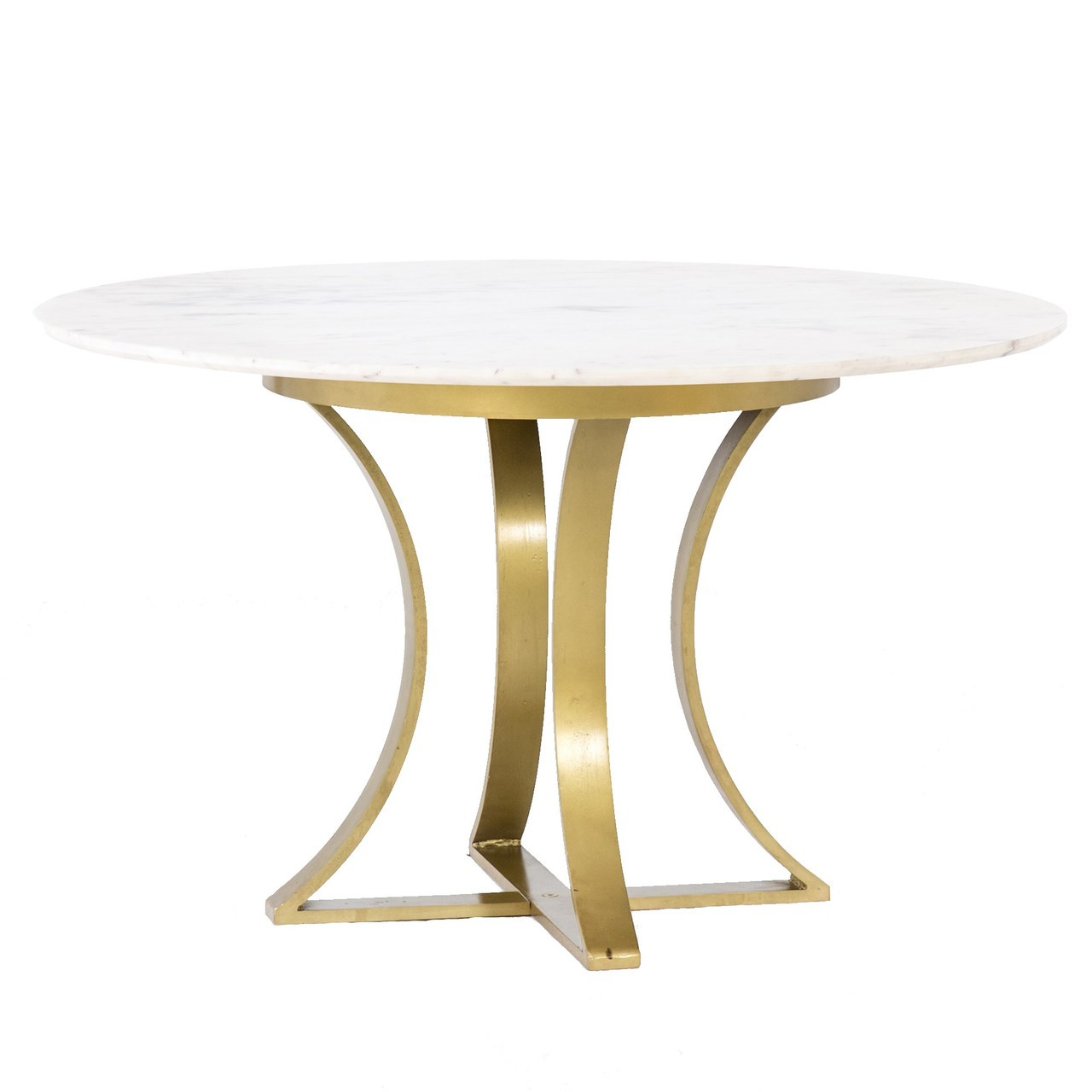 Large Size Of Marble Dining Om Table Restoration Hardware: Gage White Marble & Antique Brass Leg Round Dining Table