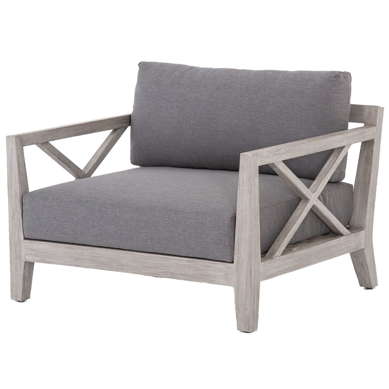 Huntington Grey Teak Outdoor Club Chair