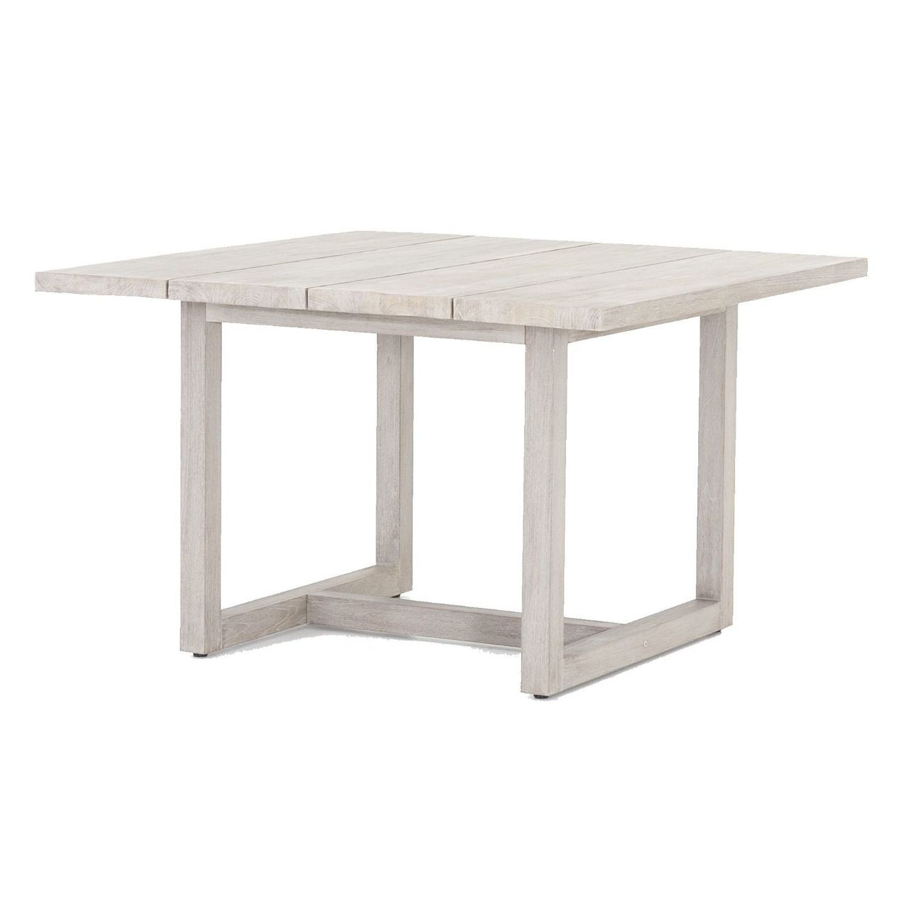 Stapleton Grey Teak Wood Square Outdoor Dining Table Zin Home - Square wood outdoor dining table