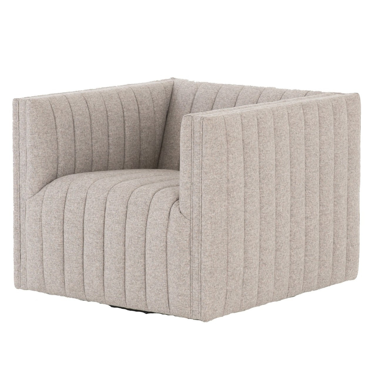 Augustine Channel Tufted Swivel Chair