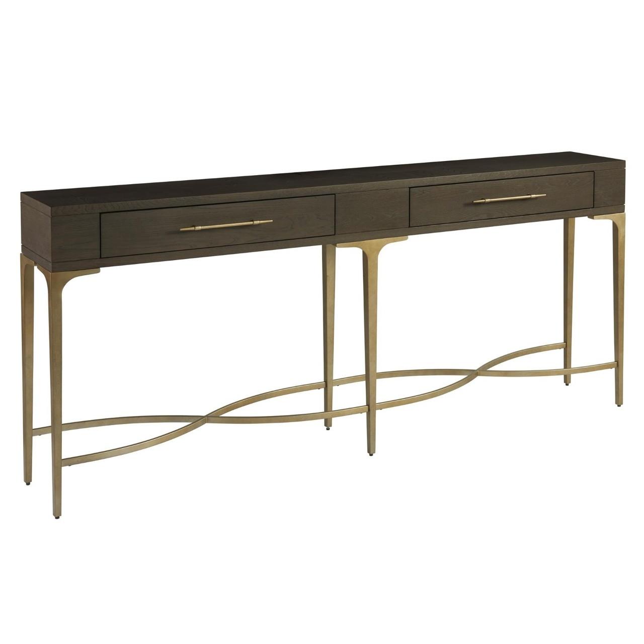 Soliloquy antiqued brass leg 2 drawer hall console table 80 zin home soliloquy antiqued brass leg 2 drawer hall console table 80 watchthetrailerfo