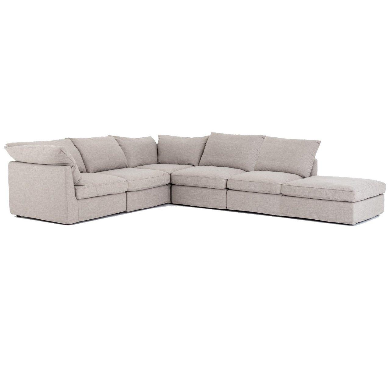 Ordinaire Paul Coastal Grey 6 Piece Modular Sectional Sofa