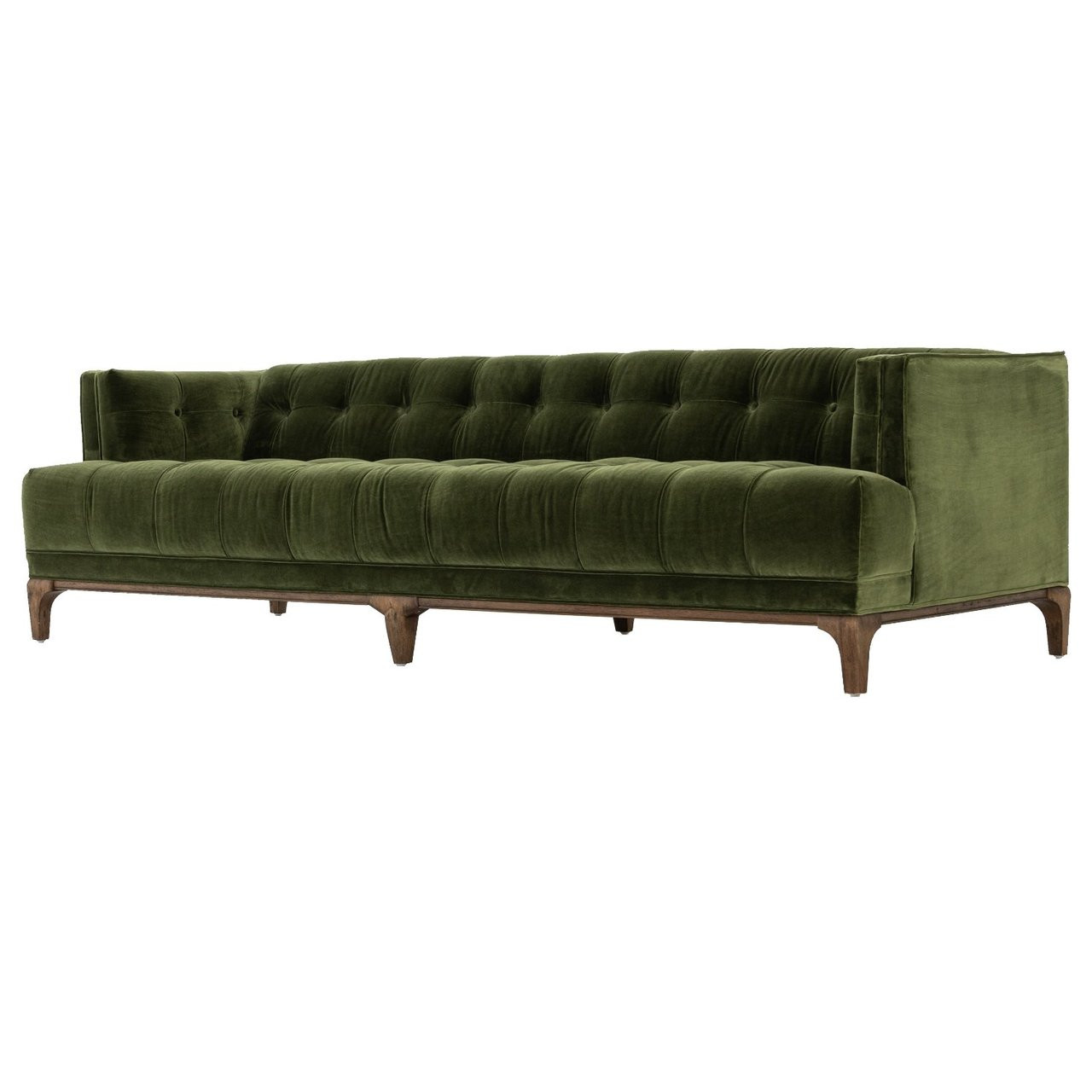 Merveilleux Dylan Mid Century Modern Olive Green Velvet Tufted Sofa