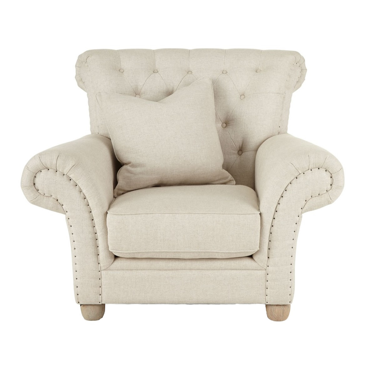 Dorothy Ivory Tufted Back Chair