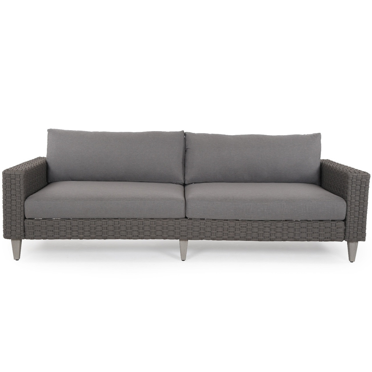 Remi Charcoal Woven Rope Outdoor Sofa