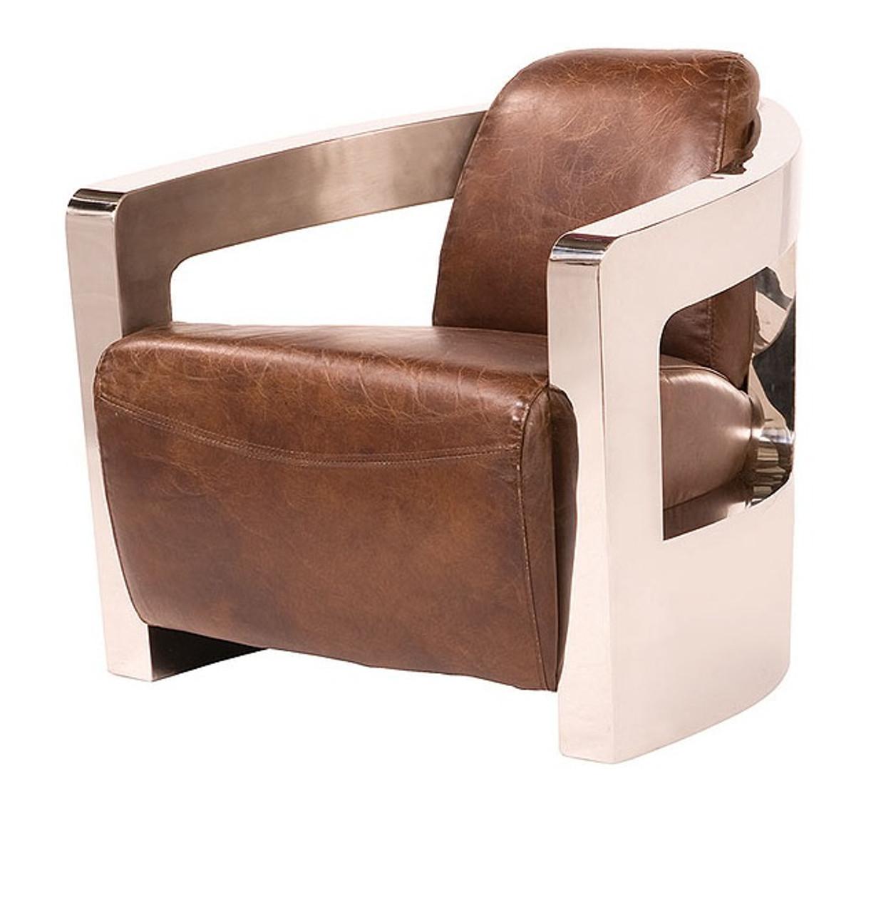 sinclair club chair metal arms zin home