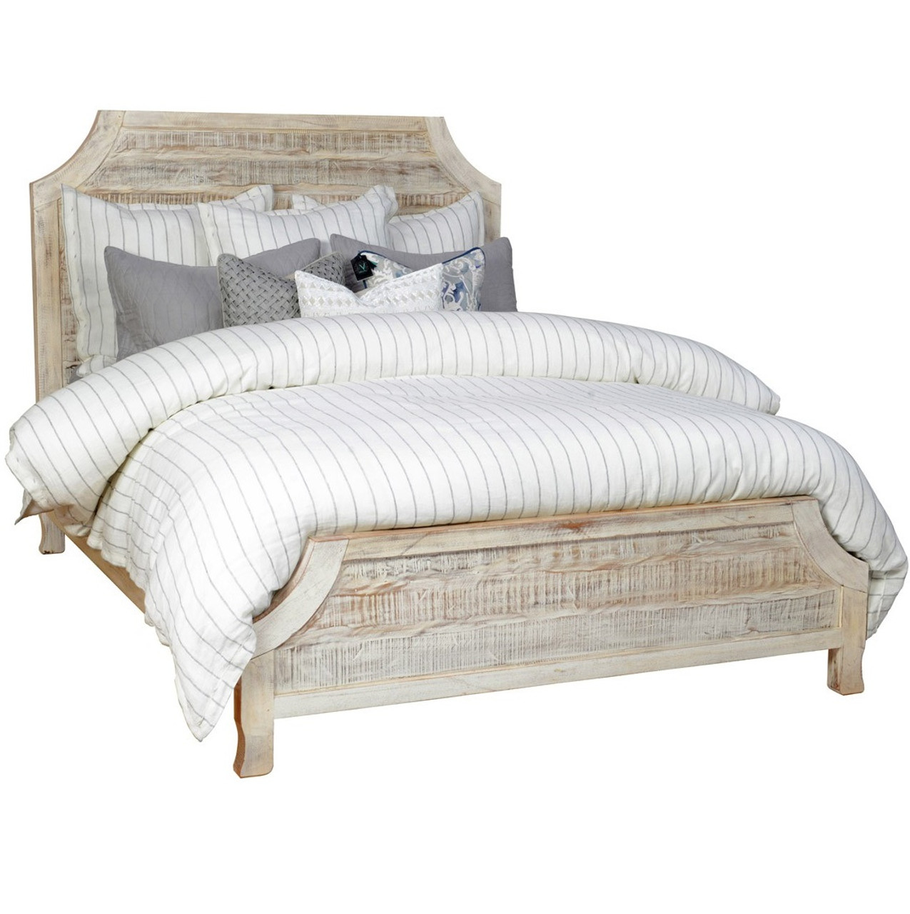 aria reclaimed wood california king bed - Wood California King Bed Frame