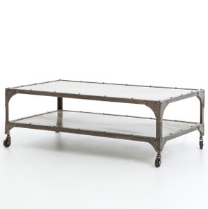 Antiqued Nickel Element Coffee Table