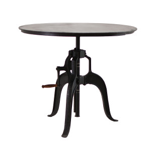 Adjustable Height Crank Dining Table 36""
