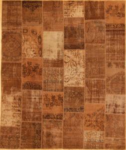 Turkish Patchwork Rugs- Chestnut