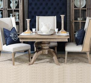 "Geneva Oak Wood Square Pedestal Dining Table 59"""