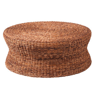 Lanai Woven Round Coffee Table Ottoman