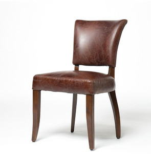 Mimi Biker Tan Leather Dining Chair
