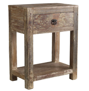 Hampton Teak Wood Side Table with 1 Drawer