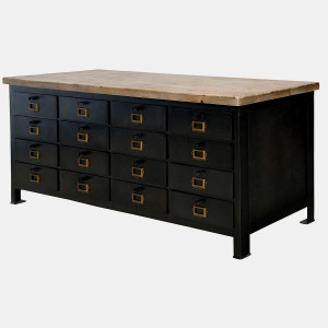 Industrial French Tool Chest Sideboard